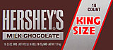 Hersheys Milk Chocolate - King Size 18CT Box