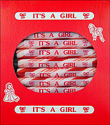Its a Girl Peppermint Sugar Sticks 24ct Box