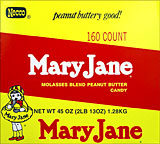 Mary Jane Molasses Blend Peanut Butter Candy 160ct Box