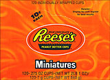 Reeses Peanut Butter Cups Miniatures - 105ct.