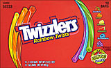 Twizzlers Rainbow Twists 18- 1.9oz bars