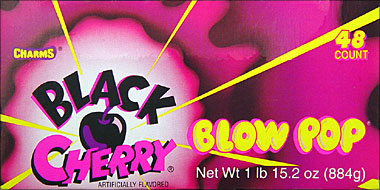 Charms Blow Pop Black Cherry 48CT