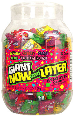 Giant Now and Later Assorted Candy Tub 192ct