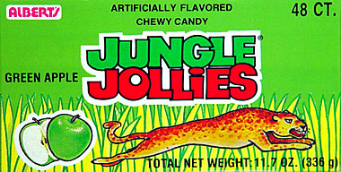 Alberts Jungle Jollies Green Apple 48ct.