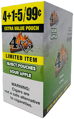 4 Kings Cigarillos Sour Apple 15ct