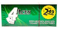 4 Aces Menthol King Size Cigarette Tubes 200ct