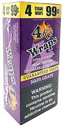 4 Kings Wraps Napa Grape 120ct Box