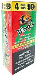 4 Kings Wraps Watermelon 120ct Box