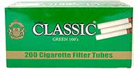Classic Cigarette Tubes Green 100 200ct