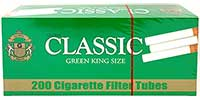 Classic Cigarette Tubes Green 200ct