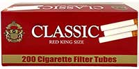 Classic Cigarette Tubes Red 200ct