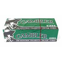 Gambler Menthol King Size Cigarette 200ct Tube