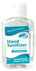 Hand Sanitizer 2oz Bottle