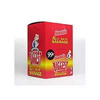 Hannahs Biggest Red Hot Sausage pp .99 24ct Box