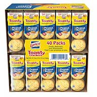 Lance Toasty Peanut Butter Crackers 40ct Box