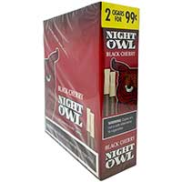 Night Owl Black Cherry Pipe Tobacco Cigars 30ct