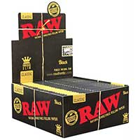 RAW Black King Slim Rolling Papers 50ct Box