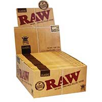 RAW King Slim Rolling Papers 50ct Box