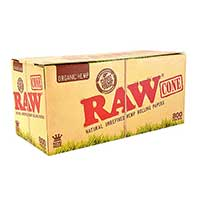 RAW Organic Hemp Cones King Size 32ct Box