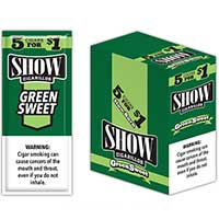 Show Cigarillos Green Sweets 15 5pks