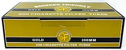Smoker Friendly Cigarette Tubes Gold 100 200ct