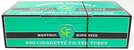 Smoker Friendly Cigarette Tubes Green King Size 200ct