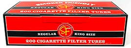 Smoker Friendly Cigarette Tubes Red King Size 200ct