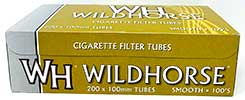 Wildhorse Cigarette Tubes Smooth 100 200ct Box