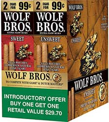 Wolf Bros Sweet and Unsweet Cigarillos Combo
