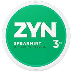 ZYN Nicotine Pouches Spearmint 3mg 5ct