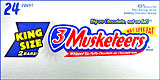 3 Musketeers King Size 24CT Box