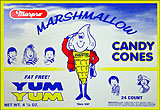 Marpro Yum Yum Marshmallow Candy Cones 24ct Box