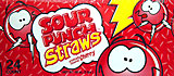 Sour Punch Straws Cherry 24CT Box