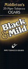 BLACK and MILD CIGARS 25 COUNT BOX