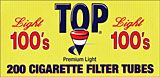 Top Cigarette Filter Tubes Light 100 200ct Box