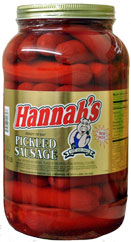 HANNAHS PICKLED SAUSAGE 4LB 39CT JAR