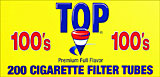 Top Cigarette Filter Tubes Full Flavor 100 200ct