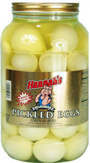 Hannahs White Pickled Eggs 4.5lb Jar