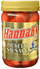 HANNAHS PICKLED SAUSAGE 16oz. JAR