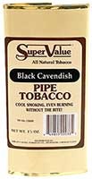 Super Value Black Cavendish Pipe Tobacco 6 Pack