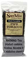 Super Value Black Cavendish Pipe Tobacco 12oz Bag