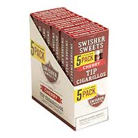 Swisher Sweets Cherry Tip Cigarillos 10 5pks