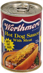 Worthmore Hot Dog Sauce w Meat 10 Ounce Can