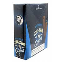 Zig Zag Cones Blueberry 15ct