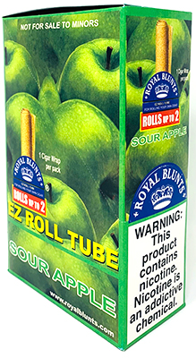 Royal Blunts EZ Roll Tube Sour Apple 25ct Box