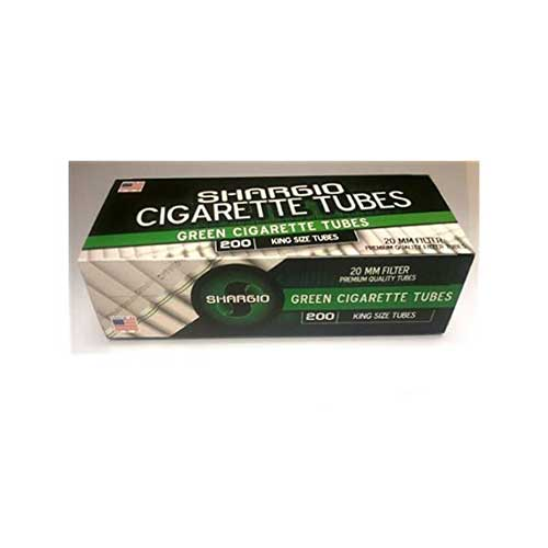 Shargio Green King Size Cigarette Tubes 200ct