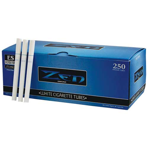 Zen Cigarette Tubes White 100 250ct Box