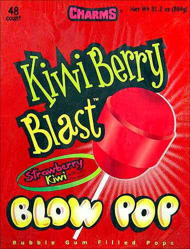 Charms Blow Pop Kiwi Berry Blast 48CT