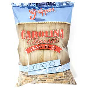 Grippos Carolina Classic BBQ 4.5oz Bag 18ct
