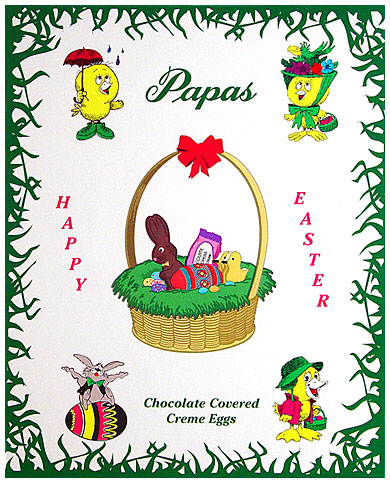 Papas Chocolate Covered Vanilla Cream Eggs 24CT Box